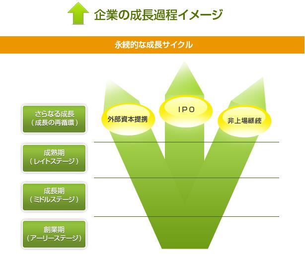 企業の成長過程イメージ